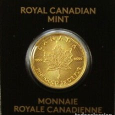 Monedas antiguas de América: MONEDA LINGOTE DE ORO PURO 24 KT - 1GR - ARCE 2021 CANADÁ. Lote 276018993