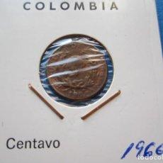Monedas antiguas de América: MONEDA DE COLOMBIA DE 1 CENTAVO DE 1966 SC-. Lote 276089583