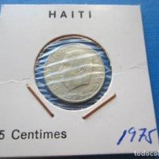 Monedas antiguas de América: MONEDA DE HAITI DE 5 CENTIMES DE 1975 SC-. Lote 276098618