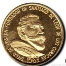 Monedas antiguas de América: MONEDA CONMERATIVA DEL CUATRICENTENARIO DE LA CIUDAD DE CARACAS. ORO 6,10 GRAMOS. Lote 276194783