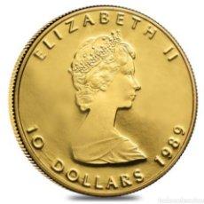 Monedas antiguas de América: 10 DOLARES CANADIENSES. ORO 24KTS. 1/4 ONZA. 7,98 GRAMOS DE PESO. Lote 276201343