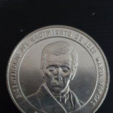 Monedas antiguas de América: BICENTENARIO DEL NACIMIENTO DE JOSÉ MARIA VARGAS. 1ONZA. PLATA. PESA 31,10 GRAMOS.. Lote 276219478