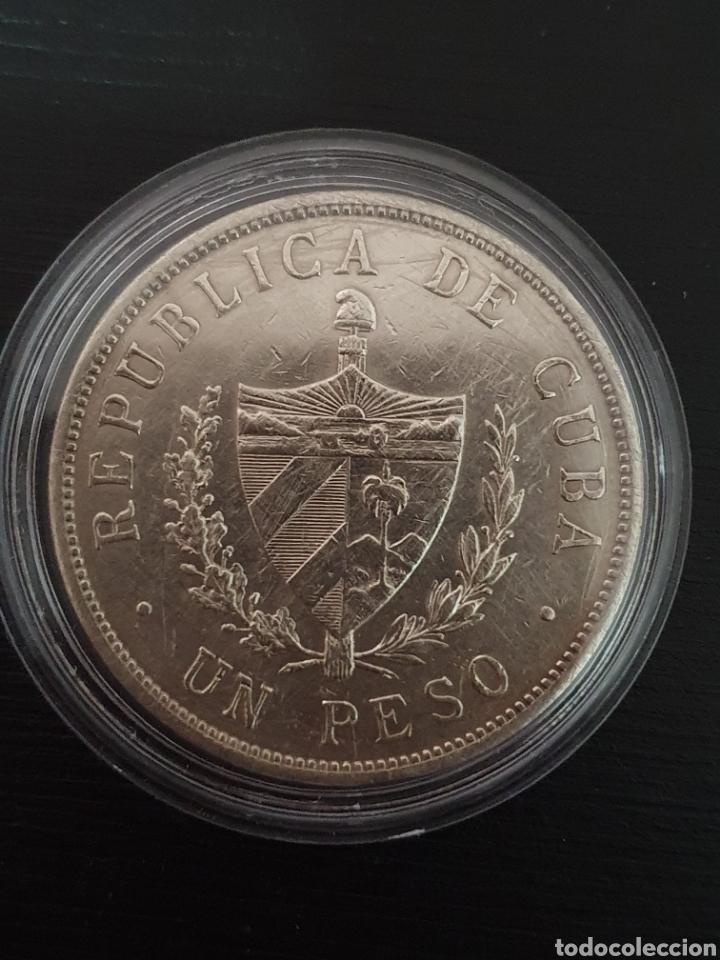 Monedas antiguas de América: Peso Cubano. 1934. Plata. Pesa 26,7295 gramos. - Foto 2 - 276259938