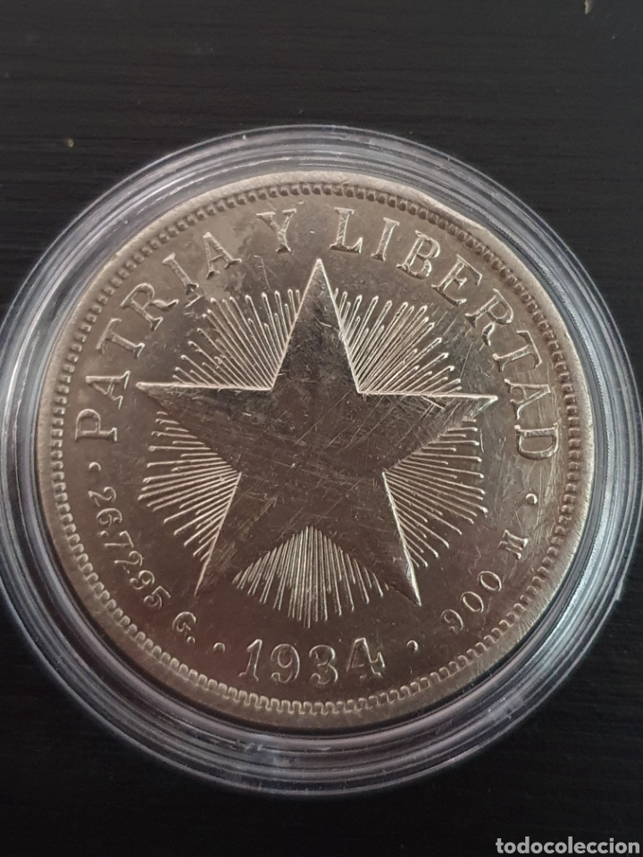 PESO CUBANO. 1934. PLATA. PESA 26,7295 GRAMOS. (Numismática - Extranjeras - América)