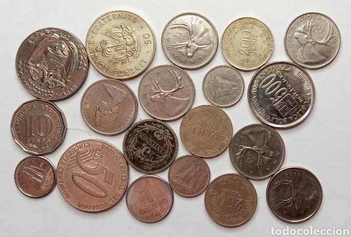 Monedas antiguas de América: LOTE DE MONEDAS PAISES AMERICANOS - Foto 2 - 276395318