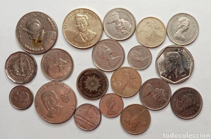 LOTE DE MONEDAS PAISES AMERICANOS (Numismática - Extranjeras - América)