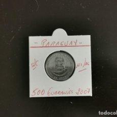 Moedas antigas da América: PARAGUAI 500 GUARANIES 2007 S/C KM=195A (NIQUEL-ACERO). Lote 276554503
