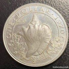 Monedas antiguas de América: BAHAMAS, MONEDA DE PLATA DE 1 DÓLAR, AÑO 1970. Lote 276653648