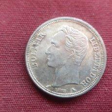 Monedas antiguas de América: VENEZUELA. 2 BOLÍVARES DE PLATA DE 1960. Lote 276748088