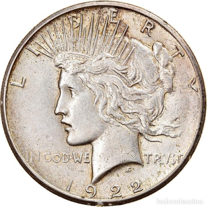 [#841218] MONEDA, ESTADOS UNIDOS, PEACE DOLLAR, DOLLAR, 1922, U.S. MINT, SAN FRANCISCO (Numismática - Extranjeras - América)
