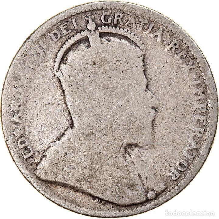 [#841181] MONEDA, CANADÁ, EDWARD VII, 25 CENTS, 1902, ROYAL CANADIAN MINT, BC, PLATA (Numismática - Extranjeras - América)