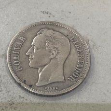 Monnaies anciennes d'Amérique: ANTIGUA MONEDA E.U. DE VENEZUELA 1926 BOLIVAR LIBERTADOR. PLATA LEI. Lote 276806543