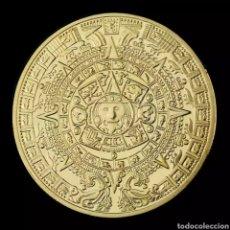 Monnaies anciennes d'Amérique: FANTASTICA MONEDA ORO AZTECA ( DIAMETRO 4 CMS). Lote 277027878
