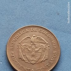Monedas antiguas de América: COLOMBIA. 50 CENTAVOS. AÑO 1963.. Lote 277133843