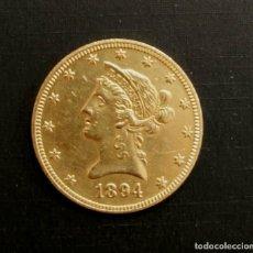 Monete antiche di America: MONEDA DE ORO DE 10 DÓLARES 16,7 GR. ESTADOS UNIDOS. TEN DOLLARS 1894 LIBERTY HEAD. Lote 277172303