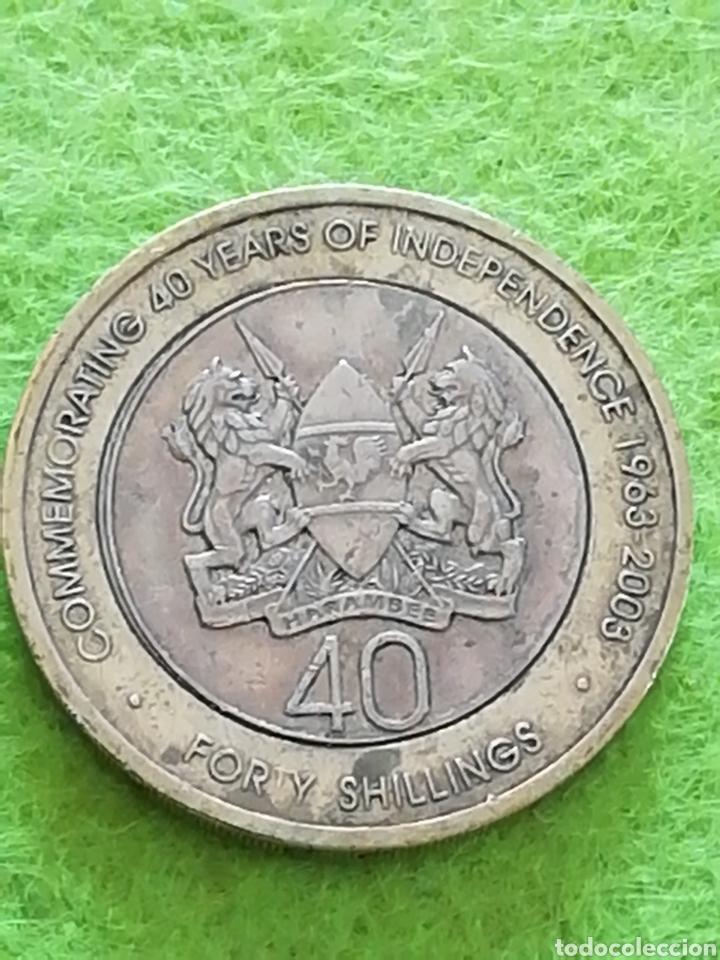 MONEDA DE KENYA. 40 CHELINES. USADA. (Numismática - Extranjeras - América)