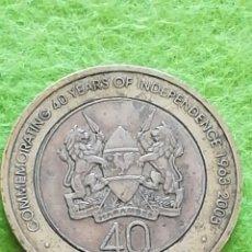 Monedas antiguas de América: MONEDA DE KENYA. 40 CHELINES. USADA.. Lote 277567068