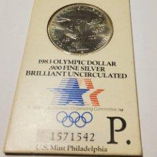 Monnaies anciennes d'Amérique: 1 DOLAR DE PLATA DE ESTADOS UNIDOS DEL AÑO 1983-P.BRILLANT UNCIRCULATED. Lote 277741358