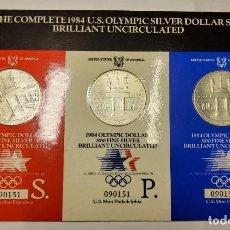 Monnaies anciennes d'Amérique: 3 MONEDAS DE 1 DOLAR DE PLATA DE ESTADOS UNIDOS DEL AÑO 1984..CECAS S.P.D.BRILLANT UNCIRCULATED. Lote 277741988