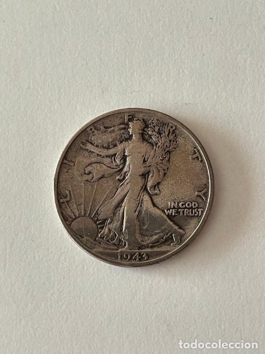 MONEDA HALF DOLAR DE PLATA 1943 MBC (Numismática - Extranjeras - América)