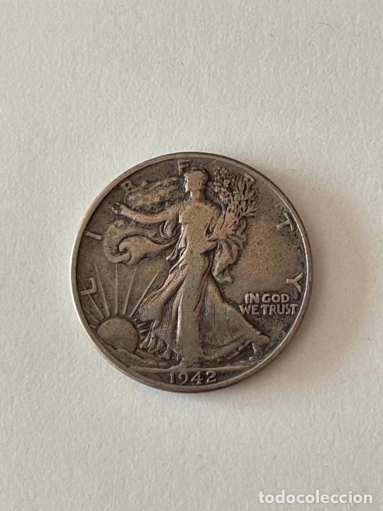 MONEDA HALF DOLAR DE PLATA 1942 MBC (Numismática - Extranjeras - América)