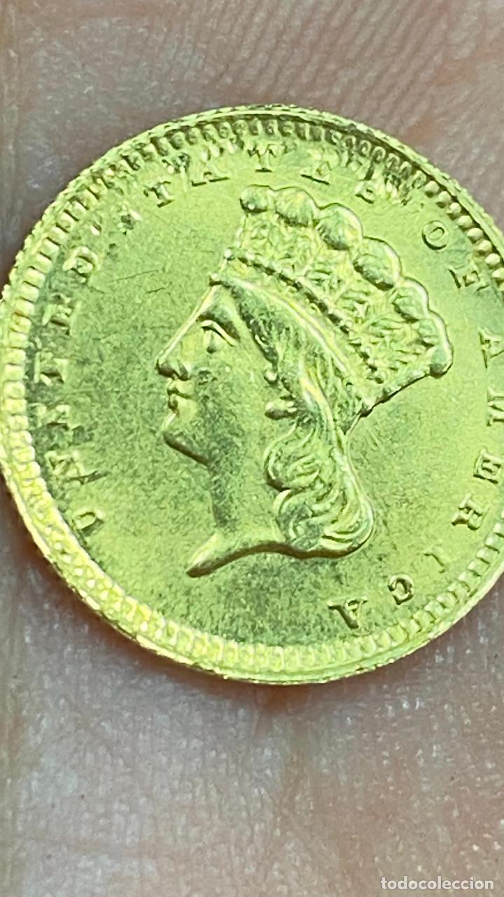 Monedas antiguas de América: Moneda de oro 1 dollar 1868 - original en muy buen estado - un dolar - Foto 12 - 278296368