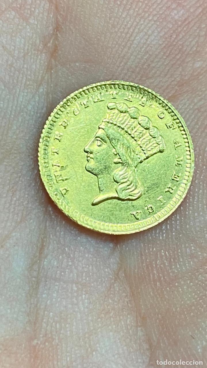 MONEDA DE ORO 1 DOLLAR 1868 - ORIGINAL EN MUY BUEN ESTADO - UN DOLAR (Numismática - Extranjeras - América)