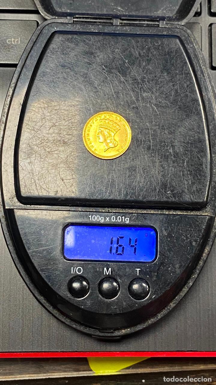 Monedas antiguas de América: Moneda de oro 1 dollar 1868 - original en muy buen estado - un dolar - Foto 14 - 278296368