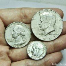 Monedas antiguas de América: LOTE DE MONEDAS AMERICANAS. TODAS DE PLATA.. Lote 278336428