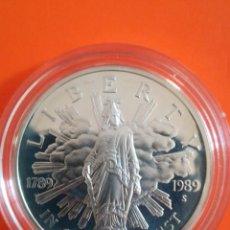 Monedas antiguas de América: MONEDA 1 DOLLAR USA 1989 S PLATA PROOF, CAPSULA ORIGINAL. Lote 278414443
