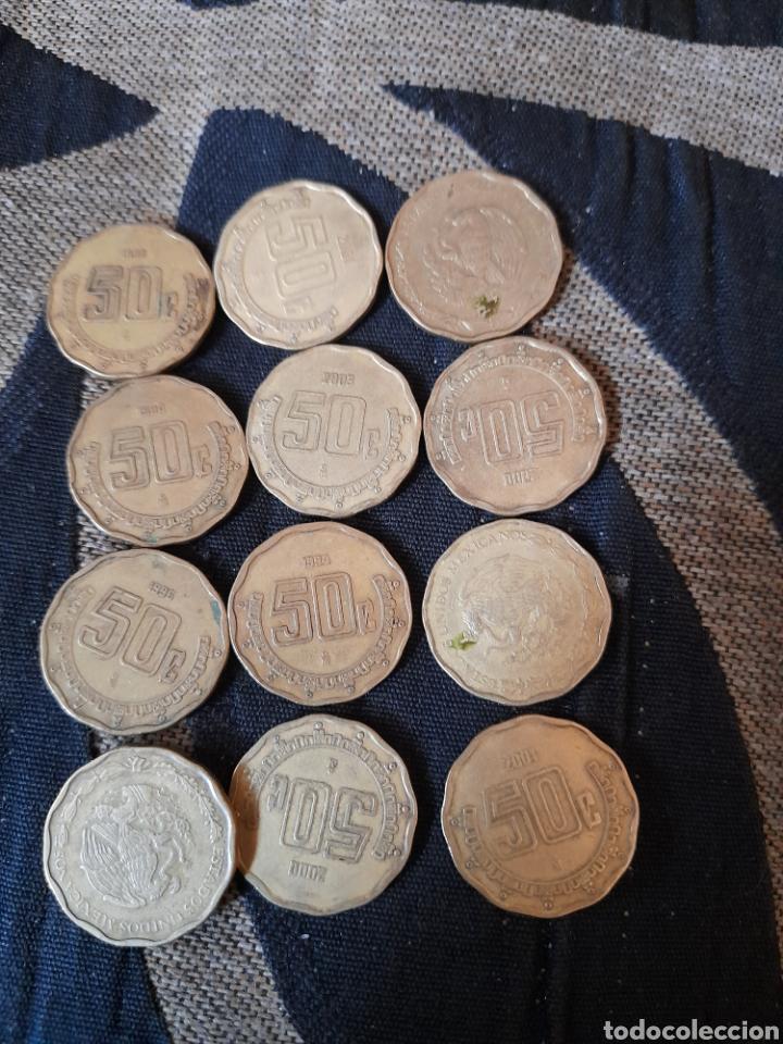 12 MONEDAS DE 50 CENTAVOS DE MÉXICO (Numismática - Extranjeras - América)