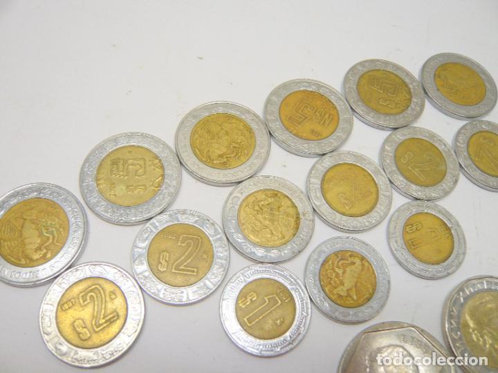 Monedas antiguas de América: lote monedas Mexico 1, 2 y 5 $ + otras monedas ...... total 20 - Foto 2 - 280865488