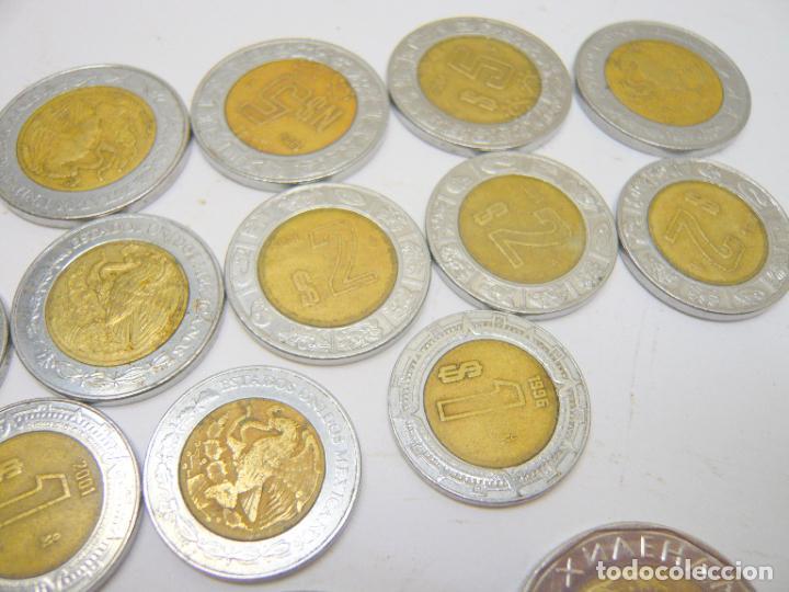 Monedas antiguas de América: lote monedas Mexico 1, 2 y 5 $ + otras monedas ...... total 20 - Foto 3 - 280865488