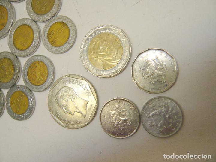 Monedas antiguas de América: lote monedas Mexico 1, 2 y 5 $ + otras monedas ...... total 20 - Foto 4 - 280865488