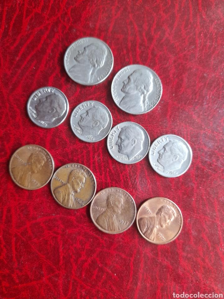 LOTE DE MONEDAS ANTIGUAS DE ESTADOUNIDENSES (Numismática - Extranjeras - América)