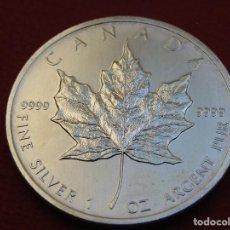 Monedas antiguas de América: ONZA DE PLATA PURA CANADA 2011. Lote 284713468