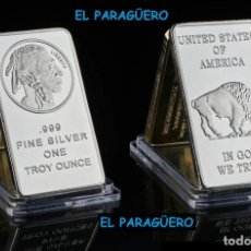 Monedas antiguas de América: ESTADOS UNIDOS LINGOTE PLATA ( CABEZA DE GRAN JEFE INDIO Y BUFALO ) LEE DENTRO LA DESCRIPCION - Nº2. Lote 286539553
