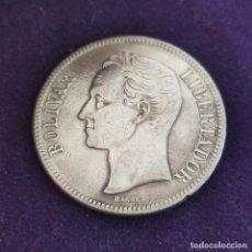 Monedas antiguas de América: MONEDA DE VENEZUELA. 1929. SIMON BOLIVAR. 5 BOLIVARES. PLATA 900. 25G.. Lote 287315703