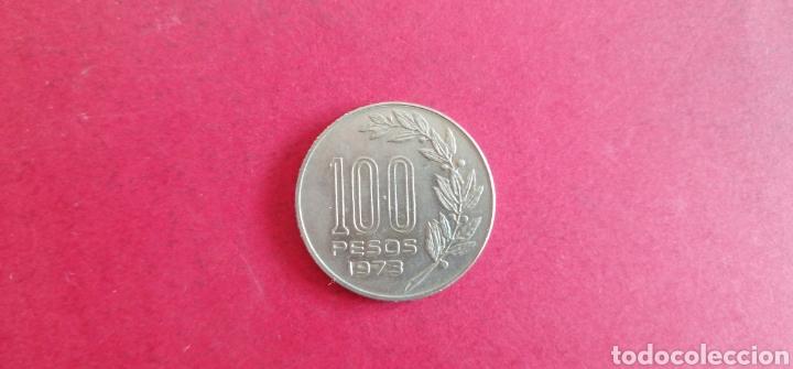 Monedas antiguas de América: 100 pesos de Uruguay 1973 - Foto 2 - 287676698