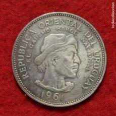 Monedas antiguas de América: MONEDA PLATA REPUBLICA ORIENTAL DE URUGUAY GAUCHO 10 PESOS 1961 MBC+ ORIGINAL C8. Lote 287914613