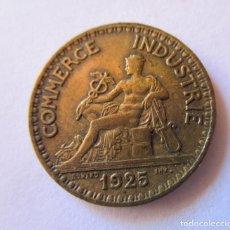 Monedas antiguas de América: FRANCIA . 2 FRANCOS DE BRONCE DEL AÑO 1925 . CALIDAD SIN CIRCULAR. Lote 288302988
