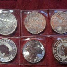Old Coins of America: LOTE DE 6 ONZAS DE PLATA PURA DIFERENTES. SC. Lote 288495573