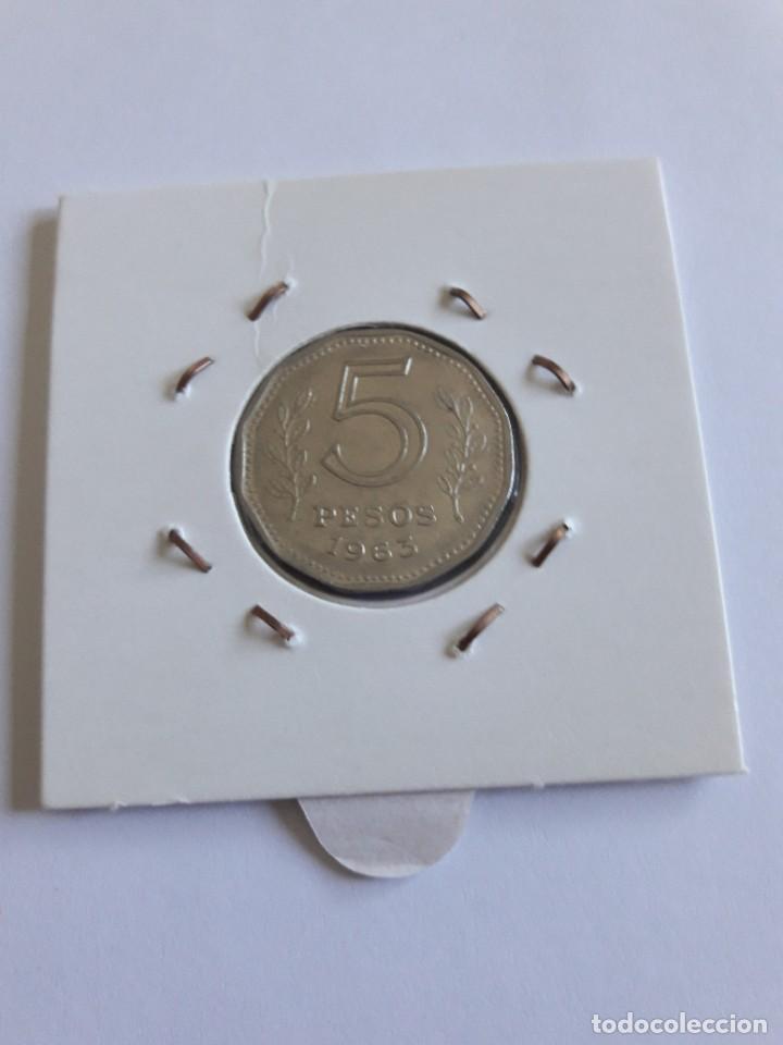 Monedas antiguas de América: ARGENTINA 5 PESOS 1963 KM#59 BONITA - Foto 2 - 288547418
