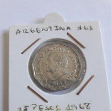 """Monedas antiguas de América: ARGENTINA 25 PESOS 1968 KM#63 """"80 ANIV MUERTE DOMINGO FAUSTINO"""" S/C. Lote 288550983"""