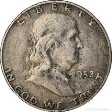 Monedas antiguas de América: [#887334] MONEDA, ESTADOS UNIDOS, FRANKLIN HALF DOLLAR, HALF DOLLAR, 1952, DENVER, MBC. Lote 289214418