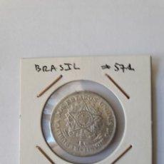 Monedas antiguas de América: BRASIL 2 CRUZEIROS 1957 KM#571 EXCELENTE. Lote 289367428