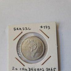 Monedas antiguas de América: BRASIL 20 CRUZEIROS 1965 KM#573 UNC. Lote 289368098