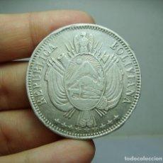 Monedas antiguas de América: 1 BOLIVIANO. PLATA. REPÚBLICA BOLIVIANA. POTOSÍ - 1864 - FP. Lote 289821778