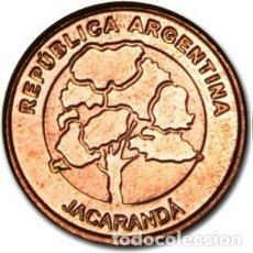 Monedas antiguas de América: ARGENTINA 2018 MONEDA DE 1 PESO COBRE - FLORA - ARBOL JACARANDA - EN UNION Y LIBERTAD. Lote 292032263
