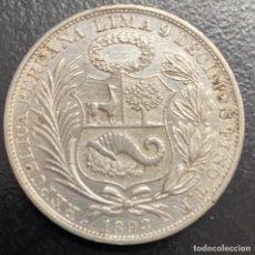 Monedas antiguas de América: PERÚ, MONEDA DE PLATA DE 1 SOL, AÑO 1893TF. Lote 293367918
